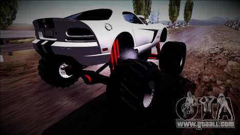 Dodge Viper SRT10 Monster Truck for GTA San Andreas left view