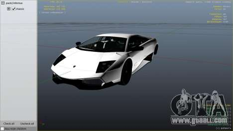 GTA 5 2010 Lamborghini Murcielago LP 670-4 SV right side view