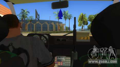 Yugo GV Police for GTA San Andreas inner view