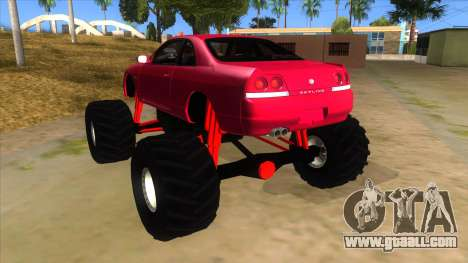 Nissan Skyline R33 Monster Truck for GTA San Andreas back left view