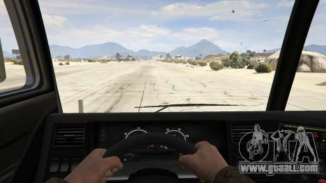 GTA 5 Los Angeles Fire Truck back view