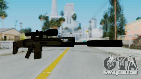 SCAR-20 v1 Supressor for GTA San Andreas