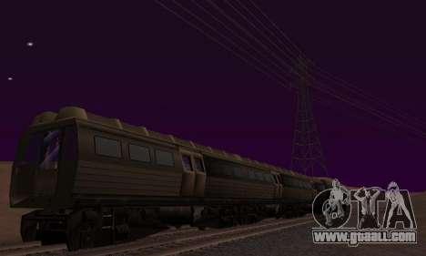 Batman Begins Monorail Train Vagon v1 for GTA San Andreas bottom view