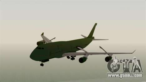 GTA 5 Jumbo Jet v1.0 for GTA San Andreas back left view