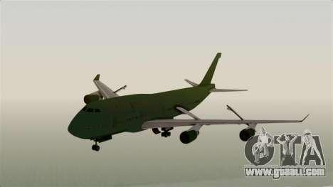 GTA 5 Jumbo Jet v1.0 for GTA San Andreas back left view