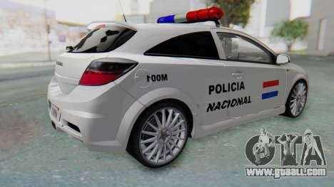 Opel-Vauxhall Astra Policia for GTA San Andreas left view