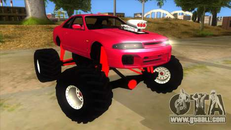 Nissan Skyline R33 Monster Truck for GTA San Andreas back view
