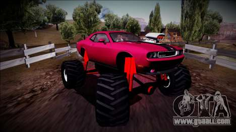 2009 Dodge Challenger SRT8 Monster Truck for GTA San Andreas right view