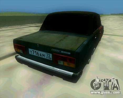 VAZ 2107 Hobo for GTA San Andreas left view