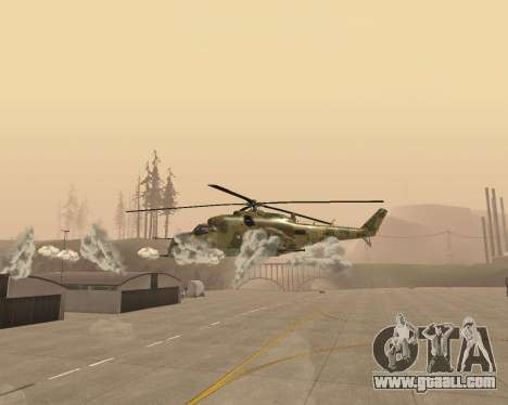 An Mi-24 At The Crocodile for GTA San Andreas inner view