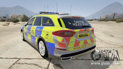 2014 Police Ford Mondeo Dog Section for GTA 5