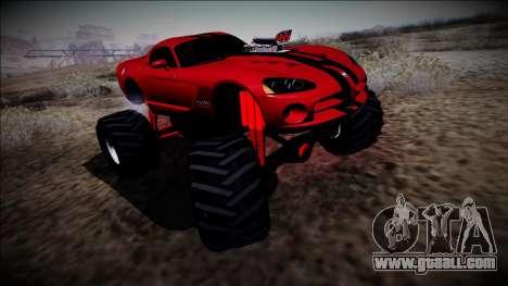 Dodge Viper SRT10 Monster Truck for GTA San Andreas back left view