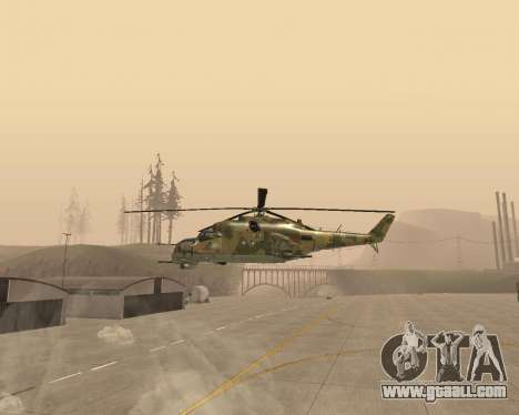 An Mi-24 At The Crocodile for GTA San Andreas left view