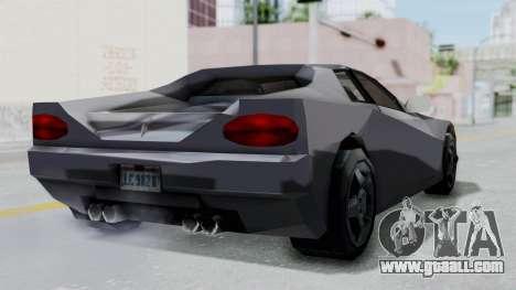 GTA LCS Cheetah for GTA San Andreas right view
