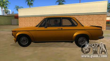 1974 BMW 2002 turbo v1.1 for GTA San Andreas left view
