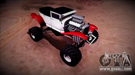 GTA 5 Albany Franken Stange Monster Truck for GTA San Andreas back view