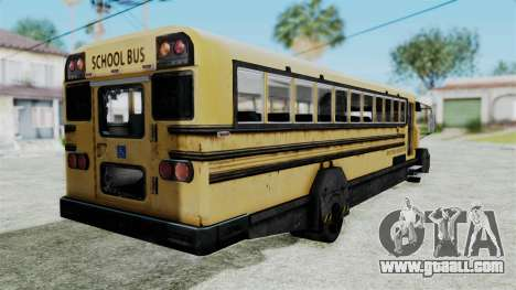 Armored School Bus for GTA San Andreas left view