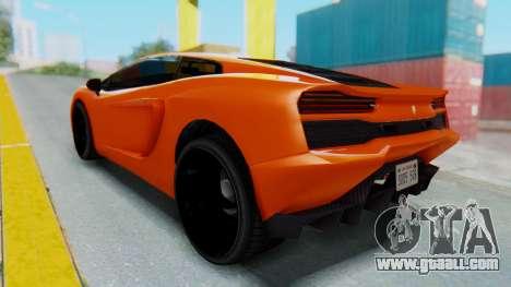 GTA 5 Pegassi Vacca IVF for GTA San Andreas back left view