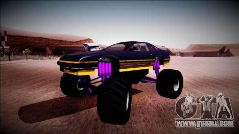 GTA 5 Imponte Ruiner Monster Truck for GTA San Andreas inner view
