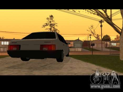 VAZ 21099 Car Without Landing Net for GTA San Andreas back left view