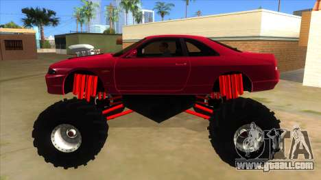 Nissan Skyline R33 Monster Truck for GTA San Andreas left view
