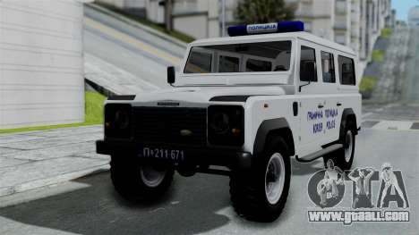 Land Rover Defender Serbian Border Police for GTA San Andreas