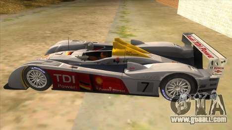 Audi R10 for GTA San Andreas left view