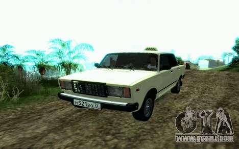 VAZ 2107 Taxi for GTA San Andreas