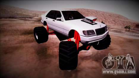Mercedes-Benz W140 Monster Truck for GTA San Andreas