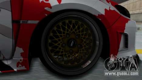 Subaru Impreza WRX STI 2010 Itasha Asuna (SAO) for GTA San Andreas back left view