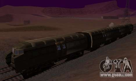 Batman Begins Monorail Train Vagon v1 for GTA San Andreas back left view