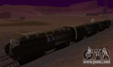 Batman Begins Monorail Train Vagon v1 for GTA San Andreas back left view