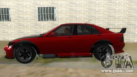 GTA V Karin Sultan RS 4 Door for GTA San Andreas side view