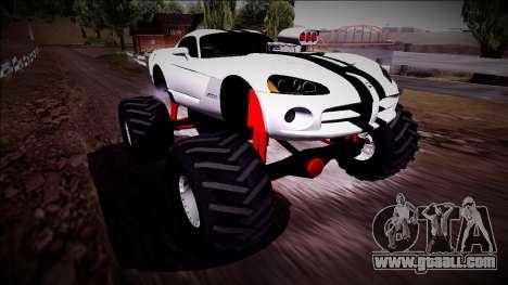 Dodge Viper SRT10 Monster Truck for GTA San Andreas