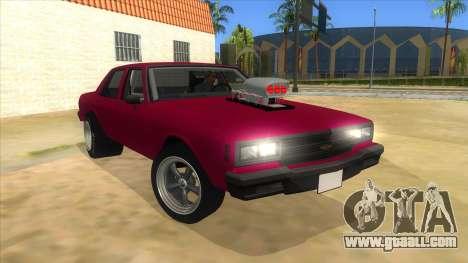 1984 Chevrolet Impala Drag for GTA San Andreas back view