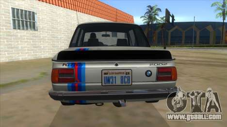 1974 BMW 2002 turbo v1.1 for GTA San Andreas bottom view