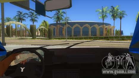 Yugo Koral Police for GTA San Andreas inner view