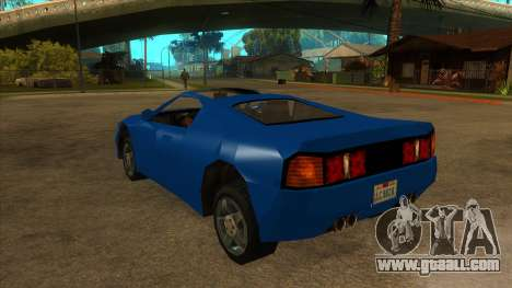 GTA LCS Deimos SP for GTA San Andreas back left view