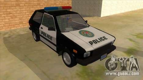Yugo GV Police for GTA San Andreas back view