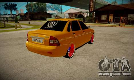 Lada 2170 Priora Gold for GTA San Andreas left view