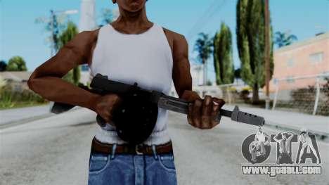 GTA 5 Gusenberg Sweeper - Misterix 4 Weapons for GTA San Andreas third screenshot