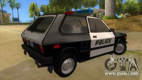 Yugo GV Police for GTA San Andreas right view