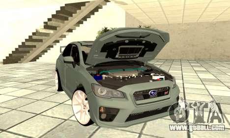 Subaru WRX STI 2015 for GTA San Andreas back view