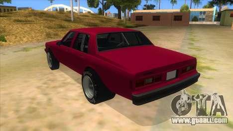 1984 Chevrolet Impala Drag for GTA San Andreas back left view