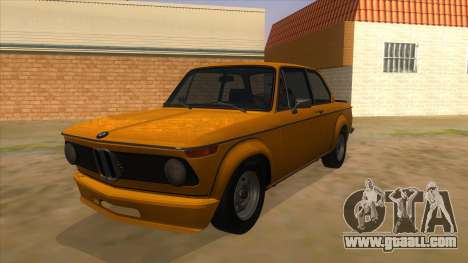 1974 BMW 2002 turbo v1.1 for GTA San Andreas