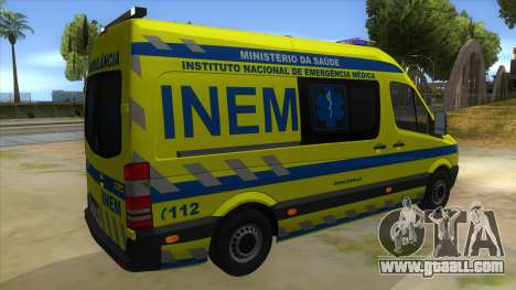 Mercedes-Benz Sprinter INEM Ambulance for GTA San Andreas right view
