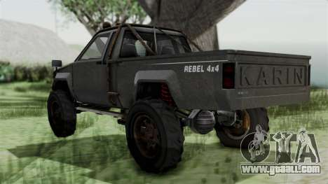 GTA 5 Karin Rebel 4x4 Worn IVF for GTA San Andreas left view