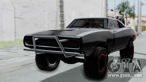 Dodge Charger 1970 Off Road  F&F7 for GTA San Andreas back view