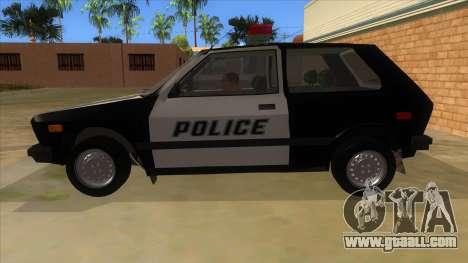 Yugo GV Police for GTA San Andreas left view