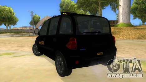 Fiat Multipla FAKETAXI for GTA San Andreas back left view